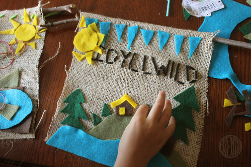decorating camp banner with felt