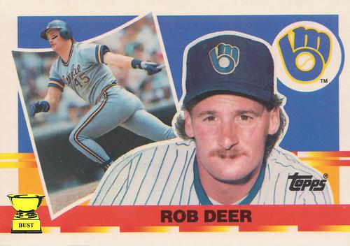 Baseball Card Bust Rob Deer 1990 Topps Big