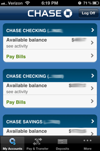 chase accounts