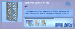 Sectional Cement Fence