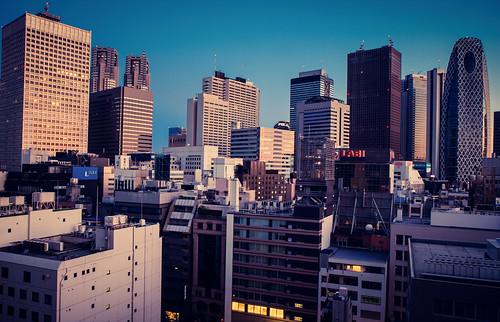 japan skyline sunrise canon tokyo shinjuku 7d hdr