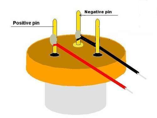 Polaridad diodo laser