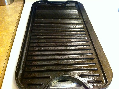 Heating Oiled Cast Iron Griddle