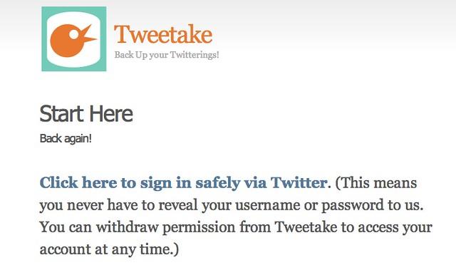 Tweetake