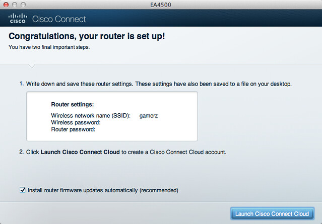 Cisco Linksys EA4500 - Setup Done