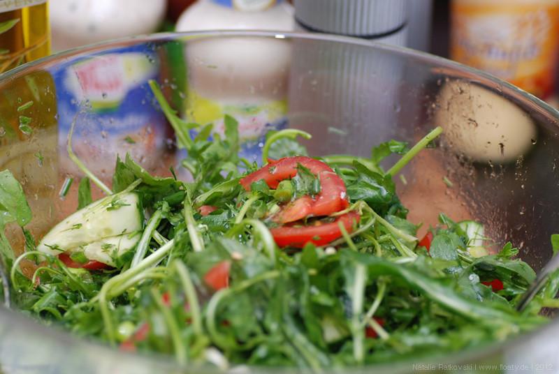 Essen für eine kleine Gartenparty
