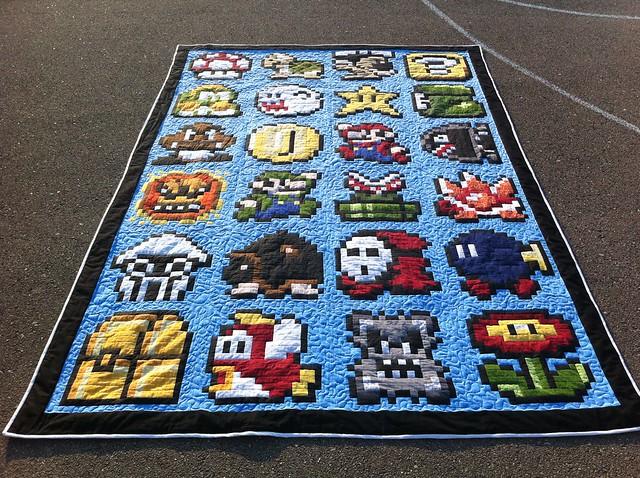 Super Mario Quilt Done!