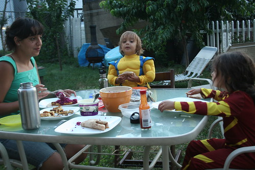 Dining with the littlest superheroes