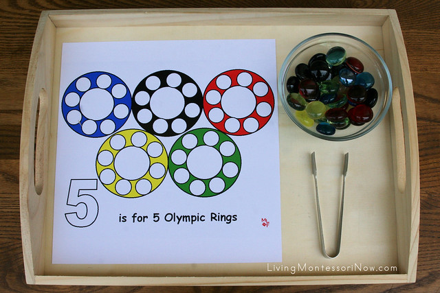 Olympic Rings Math and Practical Life Activity