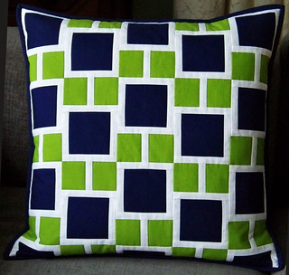 Modern Quilted Pillow Swap