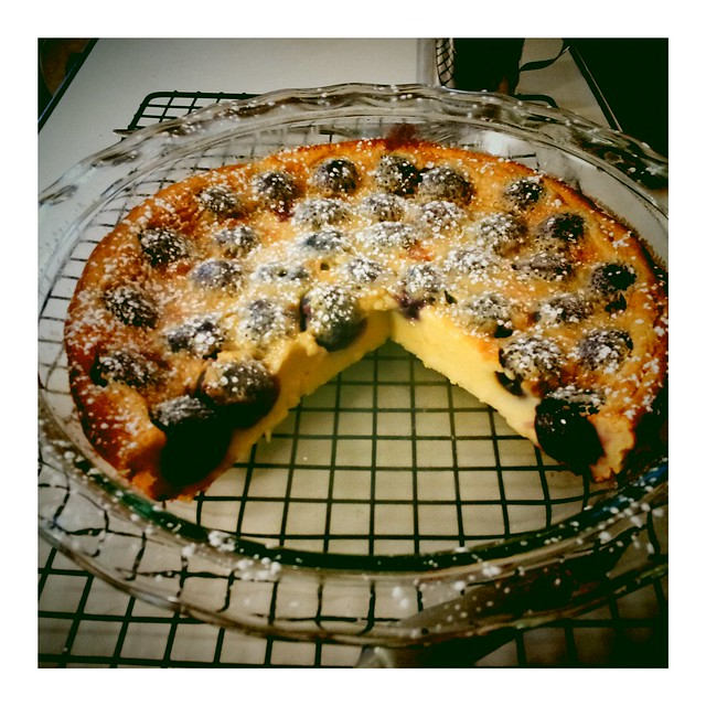 fresh cherry clafoutis for breakfast, pits included | Flickr - Photo ...