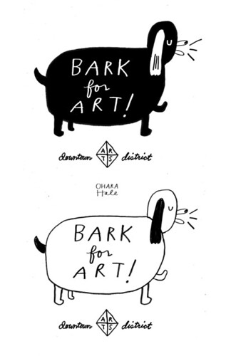 BARK FOR ART logo/design