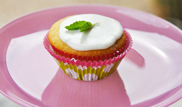 Raspberry Lime Stuffed Cupcakes