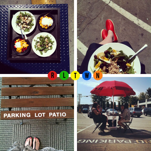Parking Lot Patio by olivelife