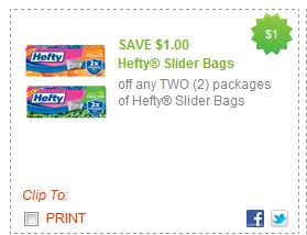 $1.00/2 Hefty Slider Bags Coupon