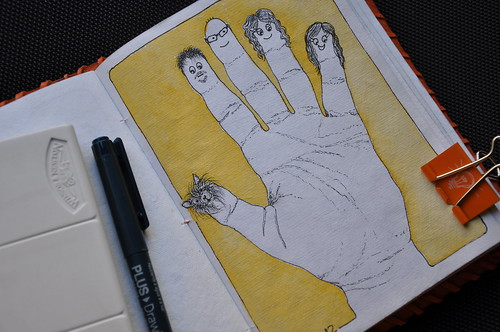 EDM Challenge #10: Draw your hand or hands (or someone else's if you like)