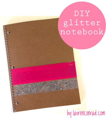Crafty Creations: Glitter Striped Bow Tote + Notebook