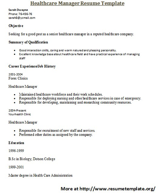 Healthcare Resume Templates | Flickr - Photo Sharing!