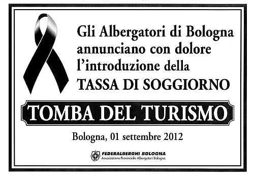 Arriva a Bologna la tassa di soggiorno: la protesta di Federalberghi