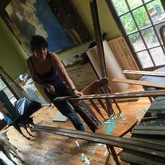 Jessica Ward salvaging bead board to use in the guest bedroom. #sustainableliving #habitablespaces