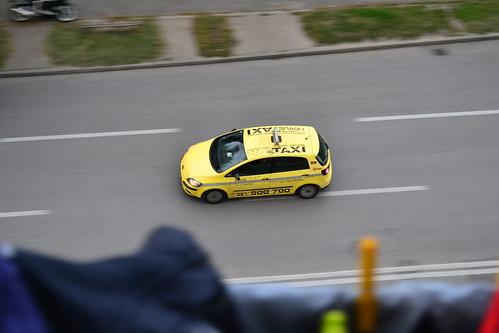Taxi u punoj brzini