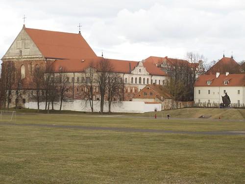 Kaunas, View of Šv. Jurgio bažnyčia from Prieplaukos krantinė