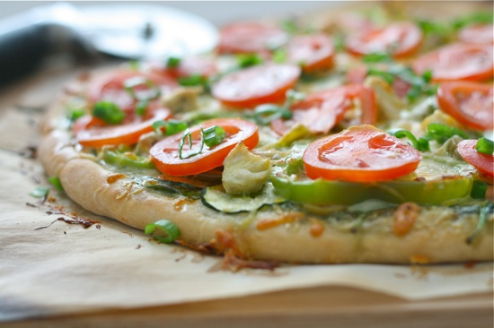 Veggie Pesto Pizza Final