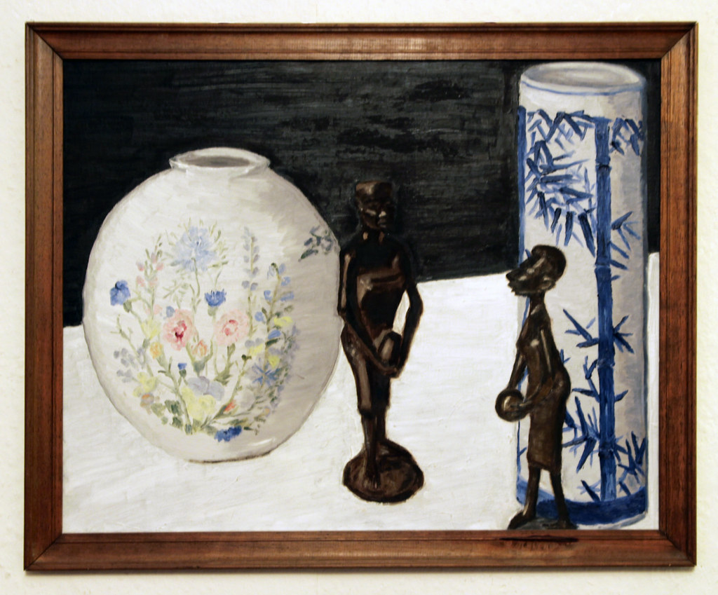 Still life with two Makonde figures