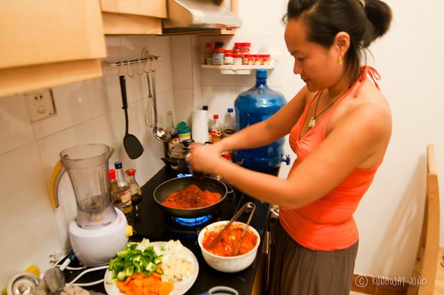 Cooking Dakgalbi