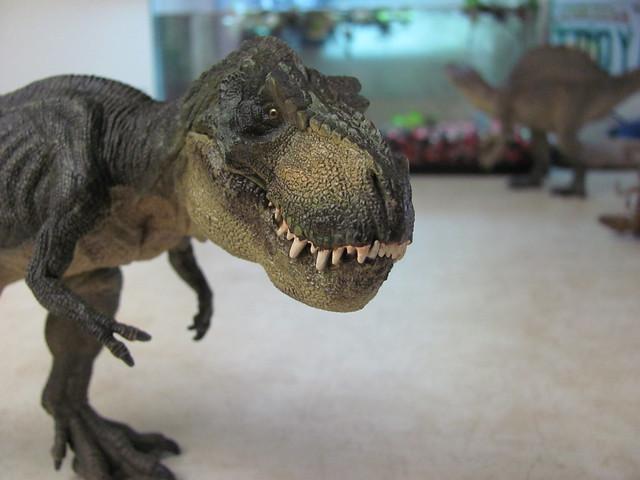 Papo running rex close