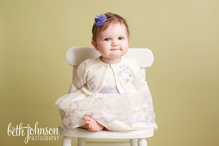 six seven month baby girl in tallahassee photography studio