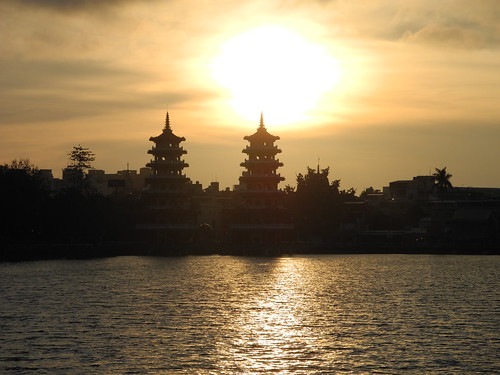 Sunset at Lotus Lake in Kaohsiung