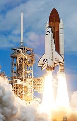 tower(0.0), rocket(1.0), space shuttle(1.0), spacecraft(1.0), vehicle(1.0),
