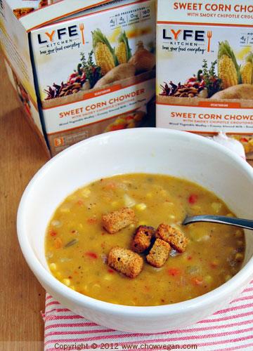 Lyfe Kitchen Sweet Corn Chowder