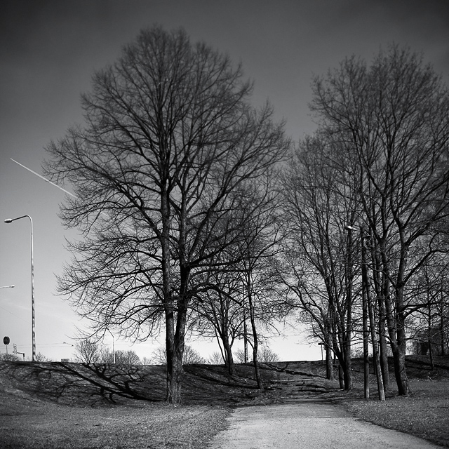 Black and white photography of Helsinki