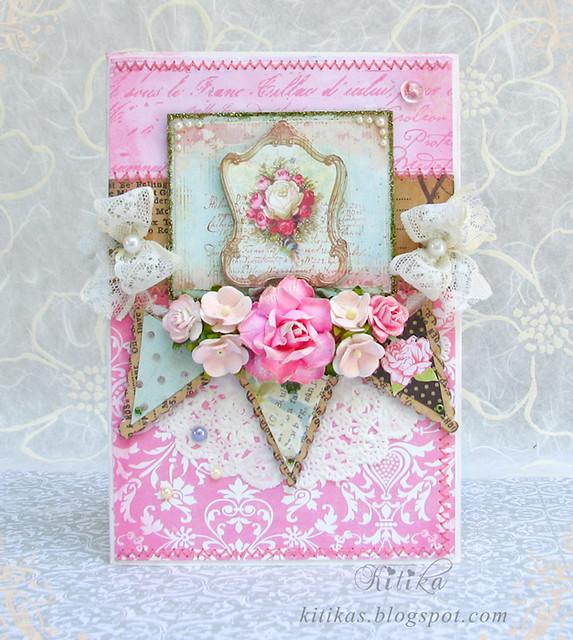Romantic shabby chic card  Flickr  Photo Sharing!