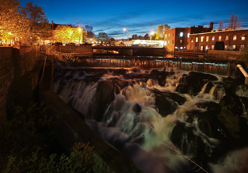 longexposure water waterfall waterfront dusk newengland newhampshire wideangle nh noflash rivers dod mills dovernh dover afterdark cocheco sigma1020 noflashnightshots drocpsu cochecofalls canonrebelt1i doveratdusk