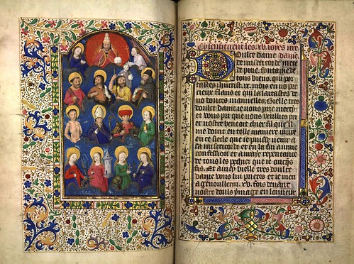 017--La corte celestial- Fol. 176 verso -Heures d'Isabeau de Roubaix- Bibliothèque numérique de Roubaix  MS 6
