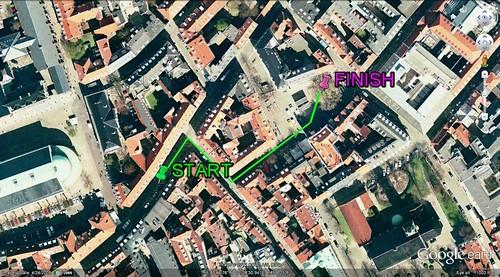 Copenhagen walking route (via Google Earth)