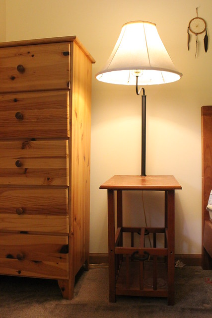 night stand with lamp 10 flickr photo sharing. Black Bedroom Furniture Sets. Home Design Ideas