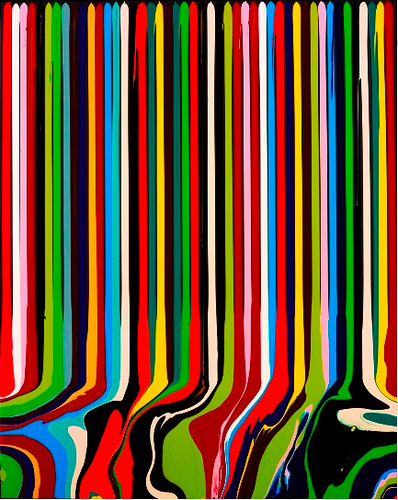 Puddle Painting: Black (After Le Corbusier) by Ian Davenport