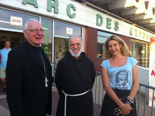 Frigide Barjot, Mgr Bagnard et Père Cantalamessa