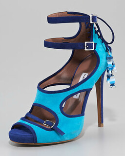 Tabitha Simmons Fish-Charm Corseted Strappy Sandal NM Retail $1495 on sale for $1001