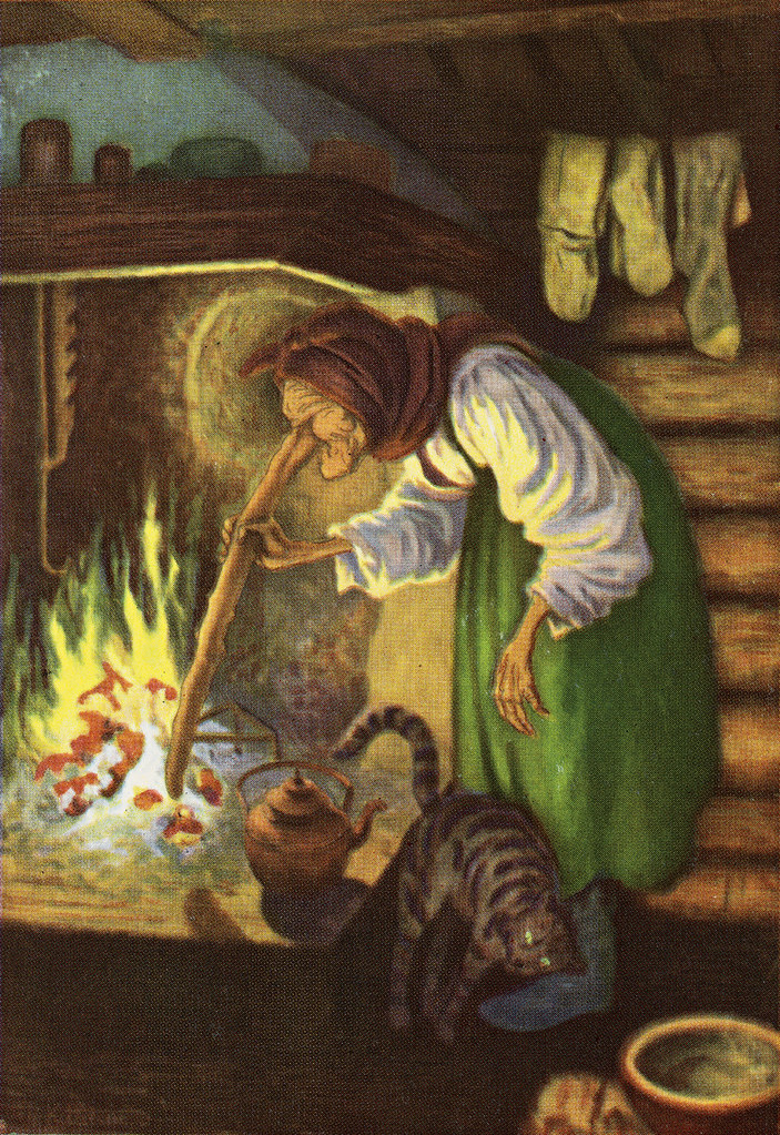 Theodor Kittelsen - The Old Woman By The Fire