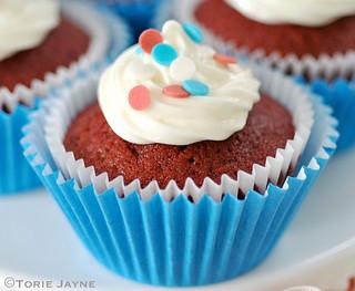 Gluten free red velvet cupcakes