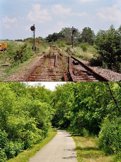 Lily Lake IL before 1977-and -after 2012,CGW line