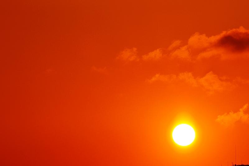 太陽下山後的隨拍