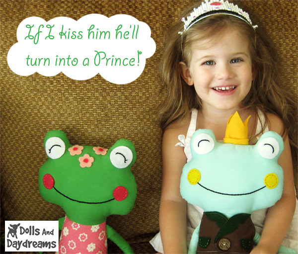 frog prince princess fairy tale softie