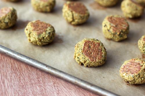 Baked Falafel Bites with Creamy Tahini Dressing - Gluten-free + Vegan ...