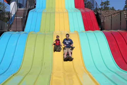 Olsen and Dadda together on the slides 4